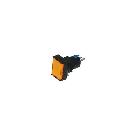 Illuminated Push Button Rectangle Shape (16mm)