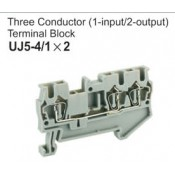 UJ5-4/1x2 Three Conductor Terminal Block