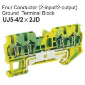 UJ5-4/2x2JD Four Conductor Ground Terminal Block