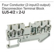 UJ5-4/2x2-U Four Conductor Disconnection Terminal Block