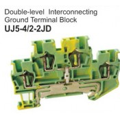 UJ5-4.2-2JD Double-Level Interconnecting Ground Terminal Block