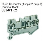 UJ5-6/1x2 Three Conductor Terminal Block