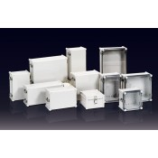 H Series, Medium Size - Plastic Boxes Stainless Steel Hinge & Latch Type