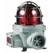 SNES (Ø130mm) Explosion Proof Bulb Revolving Warning Light with Siren Buzzer