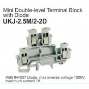 UKJ2.5M/2-2D Mini Double-Level Terminal Block (Diode)