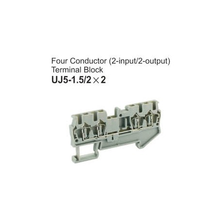 UJ5-1.5/2x2 Four Conductor Terminal Block