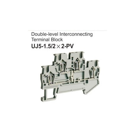 UJ5-1.5/2x2-PV Double-Level Interconnecting Terminal Block