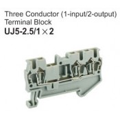 UJ5-2.5/1x2 Three Conductor Terminal Block