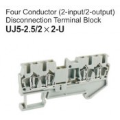 UJ5-2.5/2x2-U Four Conductor Disconnection Terminal Block