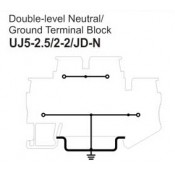 UJ5-2.5/2-2/JD-N Double-Level Neutral Ground Terminal Block