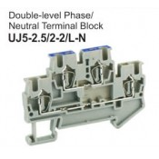 UJ5-2.5/2-2/L-N Double-Level Phase Neutral Terminal Block