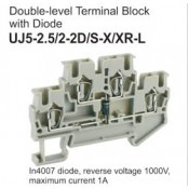 UJ5-2.5/2-2D/S-X/XR-L Double-Level Terminal Block (Diode)