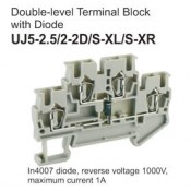 UJ5-2.5/2-2D/S-XL/S-XR Double-Level Terminal Block (Diode)