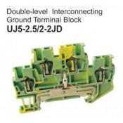 UJ5-2.5/2-2JD Double-Level Interconnecting Ground Terminal Block