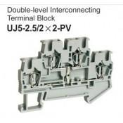 UJ5-2.5/2x2-PV Double-Level Interconnecting Terminal Block