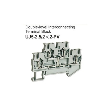 UJ5-2.5/2x2-PV Double-Level Interconnecting Terminal Block