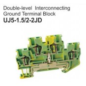 UJ5-1.5/2-2JD Double-Level Interconnecting Ground Terminal Block