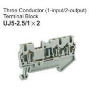 UJ5-2.5/1x2 Three Conductor Terminal Block