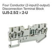 UJ5-2.5/2x2-U Four Conductor Disconnection Terminal Block